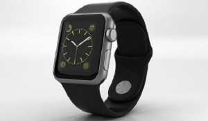 Apple Watch Space Grey mit Kunststoffarmband